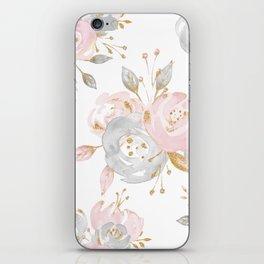 Roses Gold Glitter Pink by Nature Magick iPhone Skin