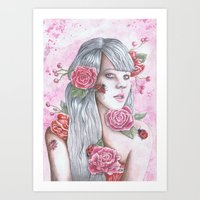 Coming Up Roses Art Print