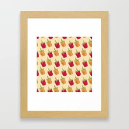 Red and Yellow Raspberries Framed Art Print
