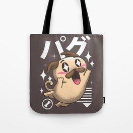 Kawaii Pug Tote Bag