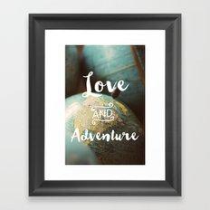 Love & Adventure Framed Art Print