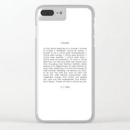 Chances Clear iPhone Case