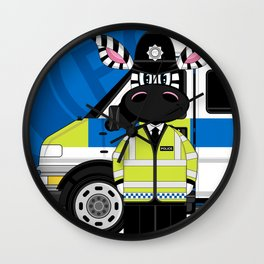 P is for Policeman Wall Clock