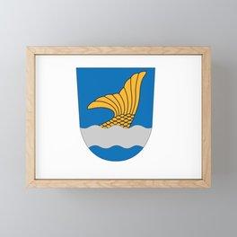 Flag of vantaa Framed Mini Art Print