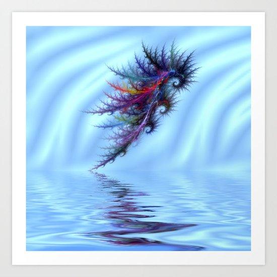 Electric Seahorse Art Print
