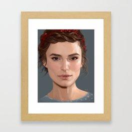 Keira Knightley portrait Framed Art Print