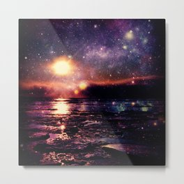 Mystic Waters Deep Jewel Tones Metal Print