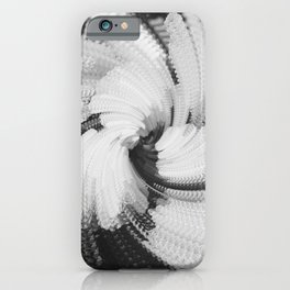 Abstracted Roses. BW iPhone Case