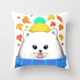 Autumn spitz Throw Pillow