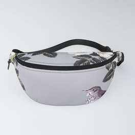 Birds and the Bees Blue Gray Fanny Pack