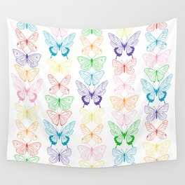 Butterfly Rainbow Wall Tapestry
