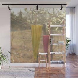 Pink Lemonade Parasol, Umbrella, Nature, Bokeh  Wall Mural