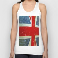 Union jack Flag Unisex Tank Top