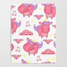 magic unicorn. mystical cute horse Poster