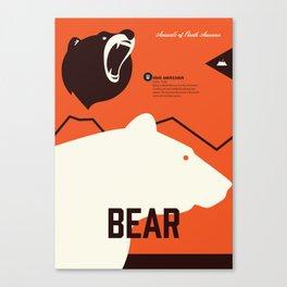 Wildlife of North America: Bear Canvas Print