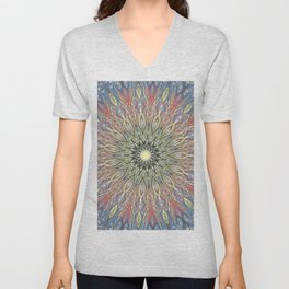 red and black Center Swirl Unisex V-Neck
