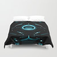 tron Duvet Covers featuring Tron  by Electra