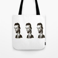 nick cave Tote Bags featuring Nick Cave by Martynas Juchnevicius