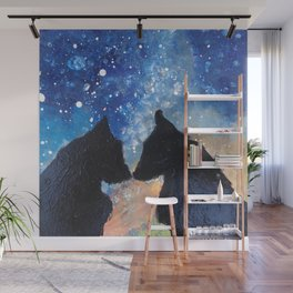 Wolf Night Wall Mural