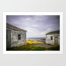 Fishing Shacks Art Print