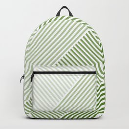 Shades of Green Abstract geometric pattern Backpack