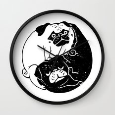 The Tao of Pug Wall Clock