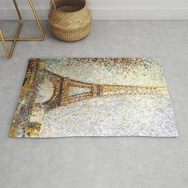 Georges Seurat Eiffel Tower Pointillism Rug