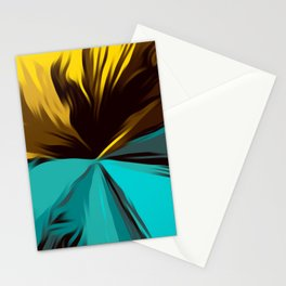 yellow green and brown splash painting texture abstract background Stationery Cards