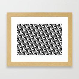 Planes Vs. Planes B&W Framed Art Print