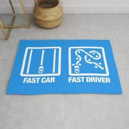 Fast Car - Fast Driver v4 HQvector Rug