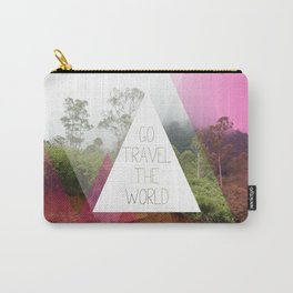 Travel the world Indonesia photography smokey mountain and typography print Carry-All Pouch