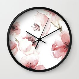 Under the Cherry Blossom Tree Wall Clock