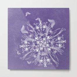 ghost bouquet and butterflies Metal Print