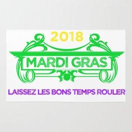 Mardi Gras Let the Good Times Roll ( Laissez les bons temps rouler) Rug