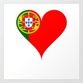 Portugal Heart Flag Art Print