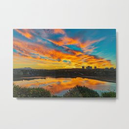 Morning Colors in the Back Bay Metal Print