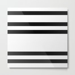 Spaced Out Horizontal Stipes Metal Print