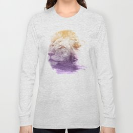LION SUPERIMPOSED WATERCOLOR Long Sleeve T-shirt