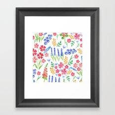 Watercolor floral pattern Framed Art Print