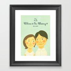 S&K Happy Wedding !! Framed Art Print