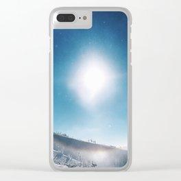 Ice Crystals Reflecting a Sundog Clear iPhone Case