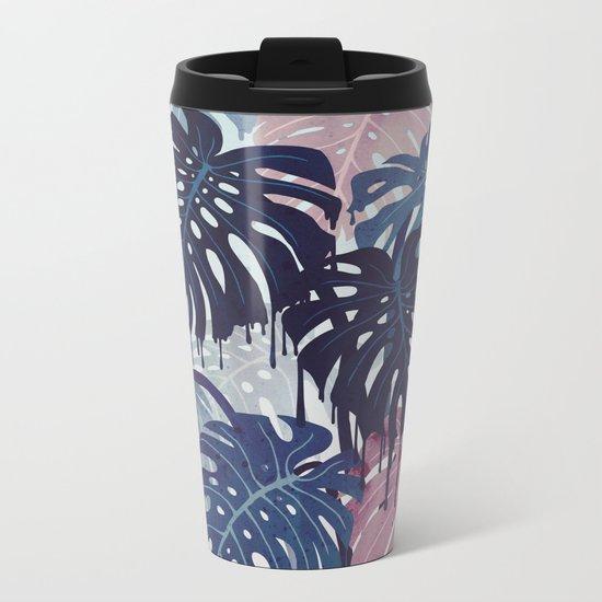 Monstera Melt Metal Travel Mug