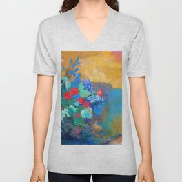 Odilon Redon - Ophelia in the flower - Digital Remastered Edition Unisex V-Neck