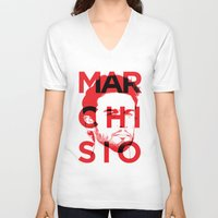 juventus V-neck T-shirts featuring MARCHI by Vectdo
