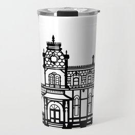 Old Victorian House - black & white Travel Mug