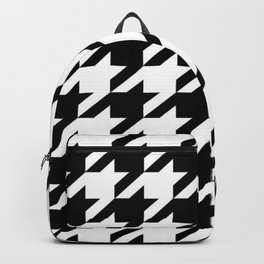 retro fashion classic modern pattern black and white houndstooth Backpack