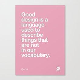 Design Quotes #2 Canvas Print