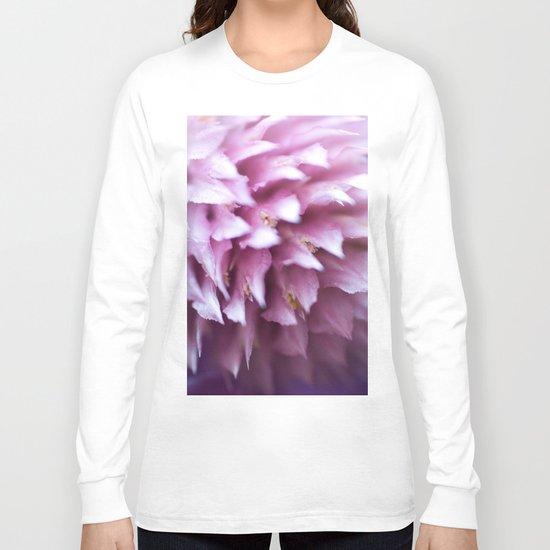 Bright-Pink Flower #1 #art #society6 Long Sleeve T-shirt