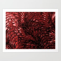 DARK RED Art Print