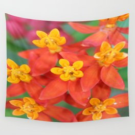 Succulent Red and Yellow Flower II Wall Tapestry